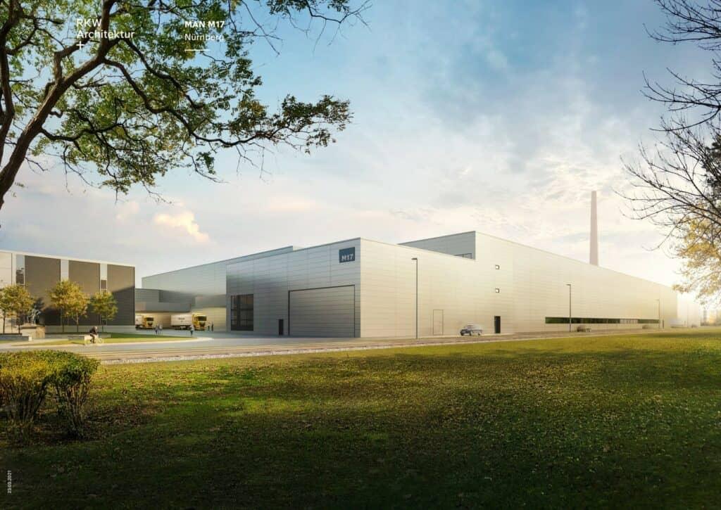 Der MAN-Neubau in Nürnberg als 3D-Modell.